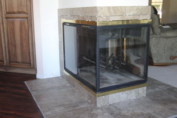 See Through Gas Fireplace Island Amp Free Standing Fireplaces